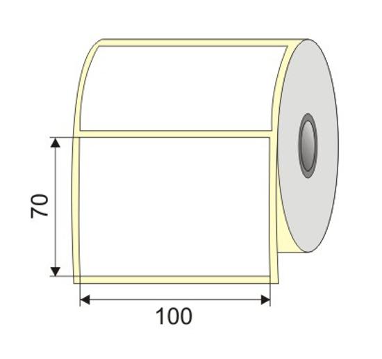 "Picture of Nalepnica papir bela 100x70  1"""