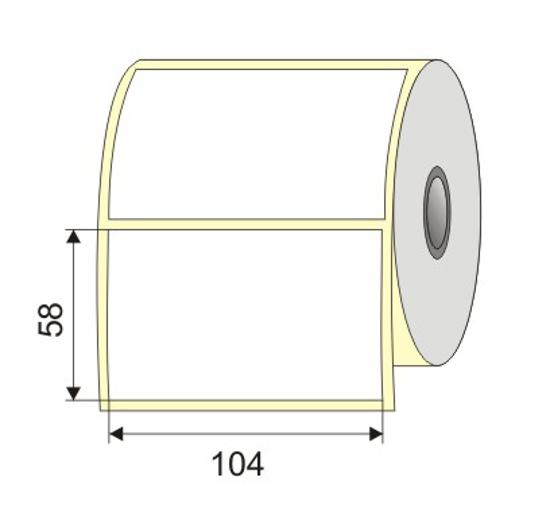 "Picture of Nalepnica papir bela 104x58  1"""