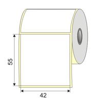 "Picture of Nalepnica papir bela 42x55 1"""