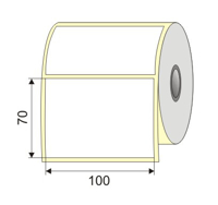 "Picture of Nalepnica papir bela 100x70  2"""