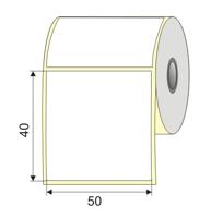 "Picture of Nalepnica papir bela 50x40 3"""