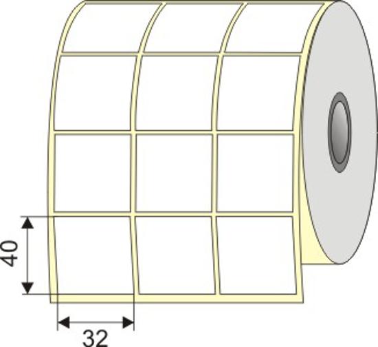 """Picture of Nalepnica papir bela 32x40 3"""" U Hilzna"""