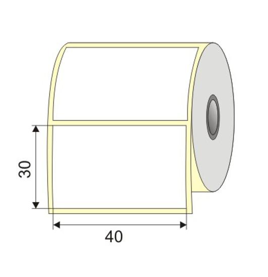 "Picture of Nalepnica papir bela DT 40x30 1"""