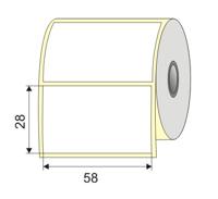 "Picture of Nalepnica papir bela DT 58x28 1"""