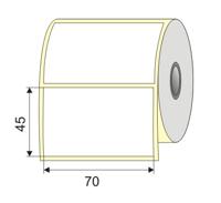 "Picture of Nalepnica papir bela DT 70x45 1"""