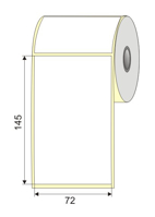 "Picture of Nalepnica papir bela DT 72x145 1"""