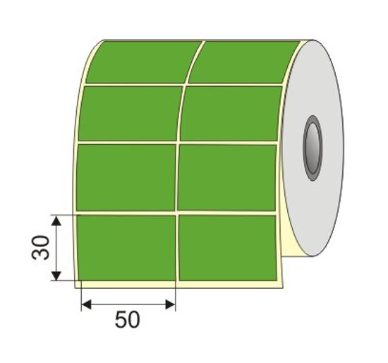 """Picture of Nalepnica papir zelena 50x30 1"""""""
