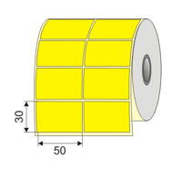 "Picture of Nalepnica papir žuta 50x30 1"""